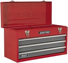 Sealey Tool Chest 3 Drawer Portable - Red/Grey