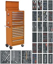 Sealey Tool Chest Combination 14 Drawer - Orange &