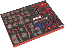 Sealey Tool Tray with Brake Service Tool Set 42pc