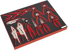 Sealey Tool Tray with Pliers Set 14pc