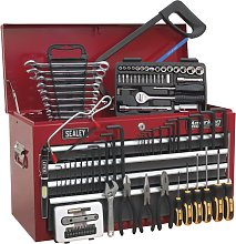 Sealey Topchest 6 Drawer - Red/Grey & 98pc Tool Kit