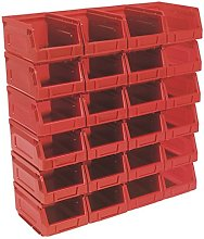 Sealey TPS224R Plastic Storage Bin 105 x 165 x