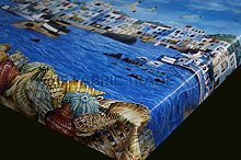 Sealife Sea Shells PVC Tablecloth Rectangular