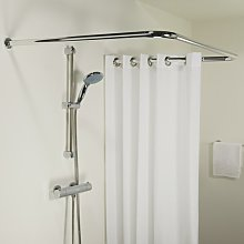 Seallux 170cm U-Shaped Fixed Shower Curtain Rail