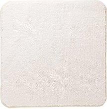 White Sealskin Twist Bath Mat Polyester 60 x 3 x 60 cm
