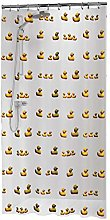 Sealskin Duckling Shower Curtain, PEVA, Yellow,