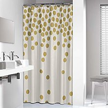 Sealskin Spots Shower Curtain, PEVA, Gold, 180 x