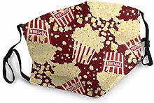 Seamless popcorn bag background Adjustable Mouth