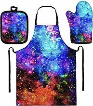 SEANATIVE Fashion Universe Space Galaxy 3 Piece