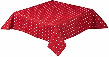 Seaquin Hearts Tablecloth in a Quality Cotton Poly