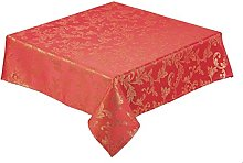 Seaquin Red Christmas Tablecloth 52 x 90 inch (127