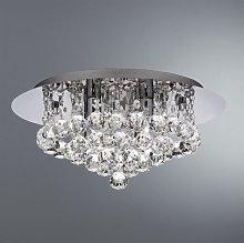 Searchlight 3404-4CC Hanna 4 Light Crystal Flush