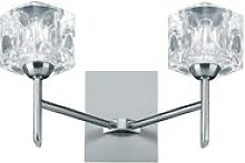 Searchlight Ice Cube - LED 2 Light Indoor Glass