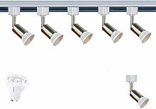 SEARCHLIGHT LED GU10 SATIN SILVER TRACK LIGHTING 5