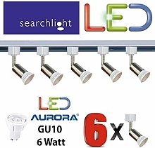 SEARCHLIGHT LED GU10 Silver Track Lighting 6 X