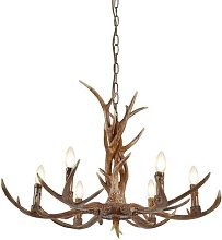 Searchlight Stag 6 Light Antler Ceiling Pendant