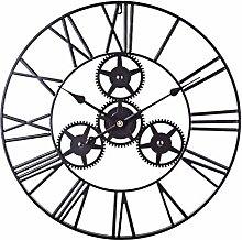 Searchyou - 60cm Large Wall Clock Metal Wall Art
