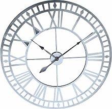 Searchyou 80CM Large Wall Clock, Metal Roman