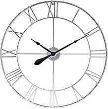 Searchyou 80CM Large Wall Clock, Metal Vintage