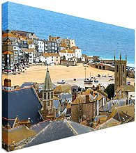 Seaside Village of St. Ives, Cornwall 40x30 inches