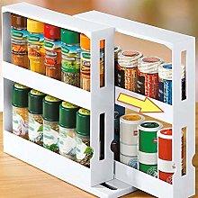 Seasoning Storage Holder, 2-Tier Pull Out Kitchen