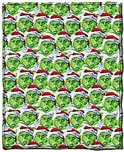 Seasons Shop Christmas Flannel Blanket, Grinch