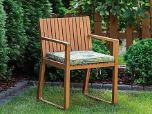 Seat Cushion for Garden Chair Green Leaf Pattern