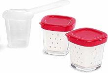 SEB Pack of 6 Yoghurt Maker Pots red