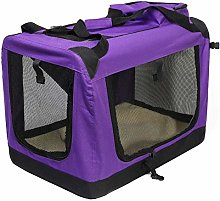 Sebasty Dog Cage, Pet Foldable Travel Bag Car