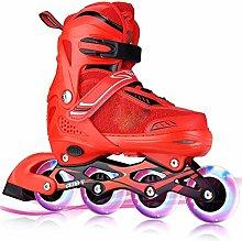Sebasty Inline Skates, Red Adjustable Inline
