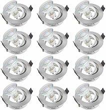 SEBSON 12x Downlight swiveling incl. LED GU10 3.5W