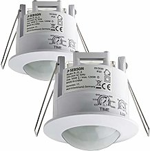 SEBSON 2x PIR Sensor Indoor, Ceiling Flush