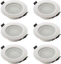 SEBSON 6X Downlight Bathroom IP44 incl. GU10 lamp