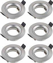 SEBSON 6X Downlight incl. GU10 lamp Holder -