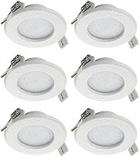 SEBSON® 6X Recessed Ceiling Light IP44, LED Panel