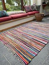 Second Nature Online Shanti Multi Colour Rag Rug