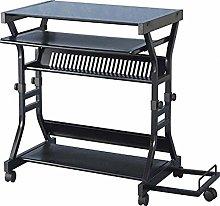 Seconique Cori Computer Desk, Black Glass/Black,