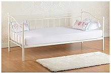 Seconique Pandora 3ft Single Metal Daybed Ivory