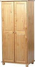 Seconique Sol 2 Door Wardrobe, Antique Pine,