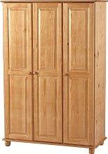 Seconique Sol 3 Door Wardrobe, Antique Pine,