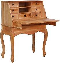 Secretary Desk 78x42x103 cm Solid Mahogany Wood
