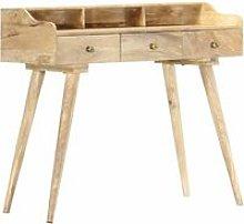 Secretary Desk 90x45x86 cm Solid Mango Wood