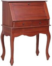 Secretary Desk Brown 78x42x103 cm Solid Mahogany