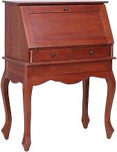 Secretary Desk Brown 78x42x103 cm Solid Mahogany