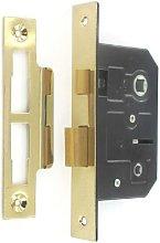 SecurIt 2 1/2' Brass Bathroom Mortice Door Lock