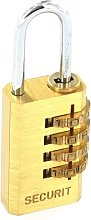 Securit S1192 Resettable Code Lock Brass 20mm Pack