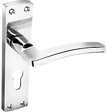Securit S2773 Nova Chrome Euro Lock Handles 167mm