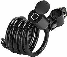 Security Cable Lock, Bike Lock Fingerprint
