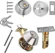 Security Door Lock with Key Round Single Cylinder
