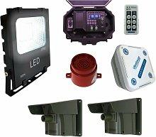 Security Floodlight & Adjustable Siren Wireless